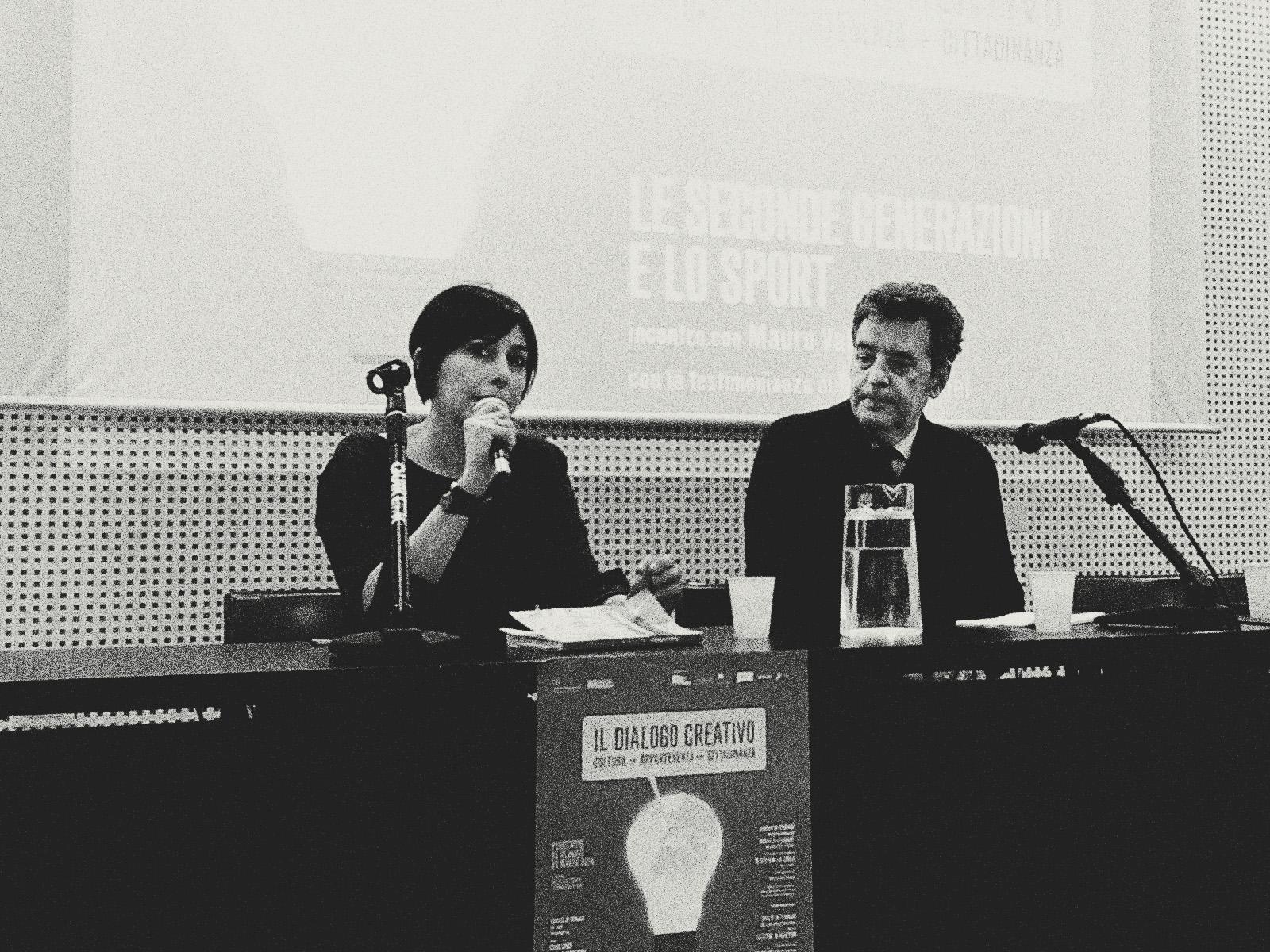 Alessandra Gabelli con il sociologo Mauro Valeri